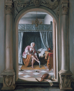 A Woman at her Toilet
