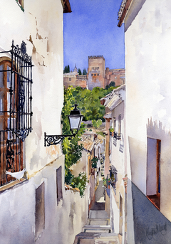 An Alley in the Albaicin, Granada