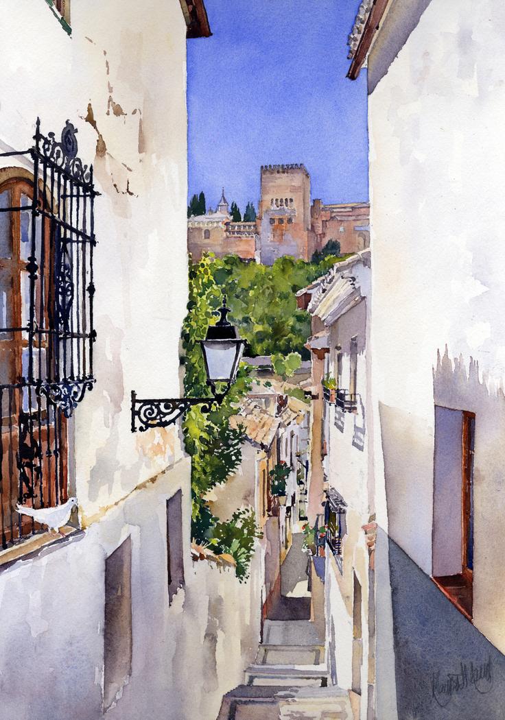 An Alley in the Albaicin, Granada