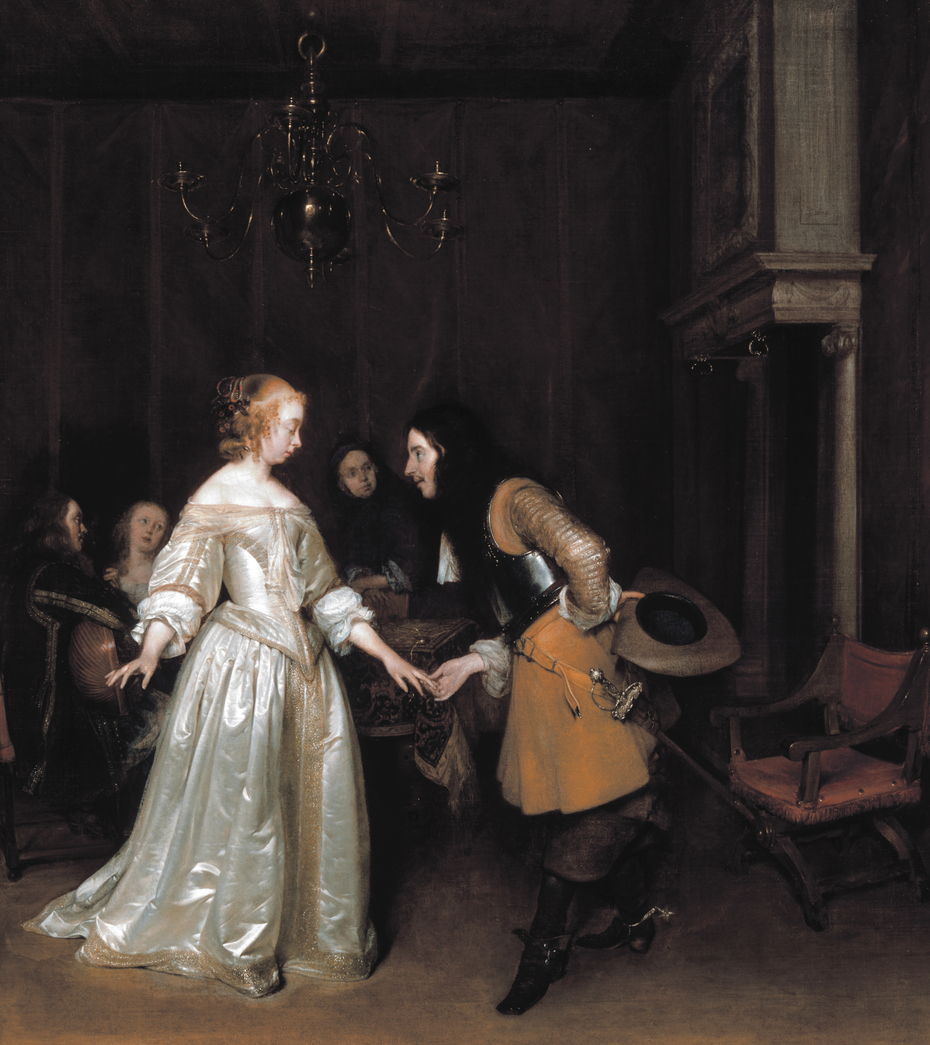 An Officer Making His Bow to a Courtesan