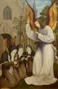 Appearance of Angel to Saint Clare, Saint Agnes and Saint Colette