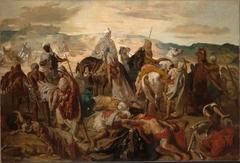 Arab Horsemen Carrying Away Their Dead