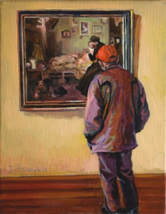 At the museum - man in the red cap