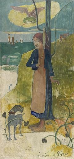 Breton Girl Spinning