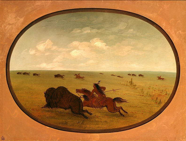Buffalo Chase, Sioux Indians, Upper Missouri