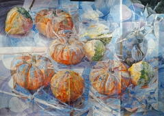 CALABAZAS NARANJA Y AZUL / ORANGE AND BLUE PUMPKINS