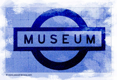 CALEPINAGE station Museum Sydney - CYANOTYPE SERIE 1/1 - by Pascal