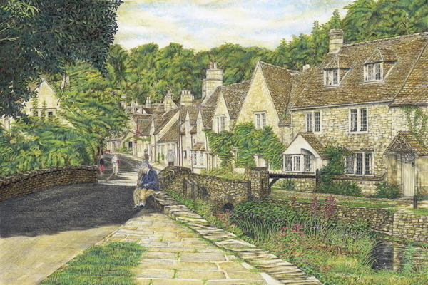 Castle Combe Village West Country, England