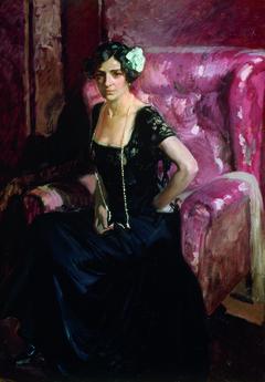 Clotilde in evening dress