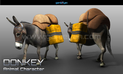 3D Donkey Animal Character Animation Riyadh