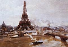 Eiffel Tower and Champ-de-Mars, January 1889: Work for the World's Fair