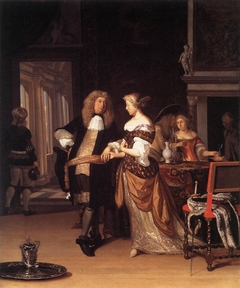 Elegant Couple in an Interior