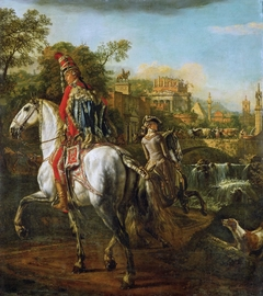 Equestrian Portrait of a Hussar Officer