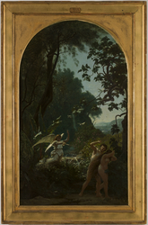 Esquisse pour l'église de la Trinité : Adam et Eve chassés du paradis