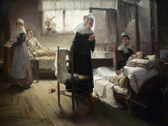 Evangeline Discovering Her Affianced in the Hospital