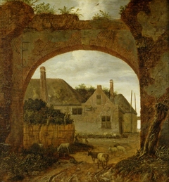 Farm Buildings seen through an Archway