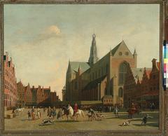 Figures on the Grote Markt, in Haarlem