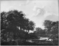 Forest Landscape with Staghunt