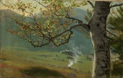 Herbstlicher Baum vor Wiesental