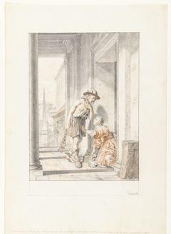 Hermes, Aglauros, Mercurius en Herse (?)