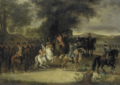 Inspection of a Cavalry Regiment, perhaps by William of Hesse-Homburg