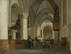 Interior of the Church of St Bavo in Haarlem