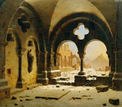 Klosterruine im Winter
