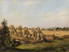 Korenschoven in het veld