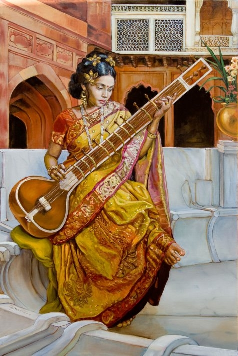 Lady with a sitar