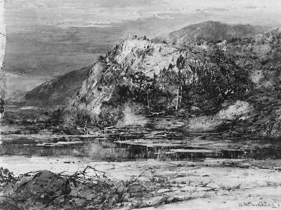 Landscape with Rocky Hills and Stream