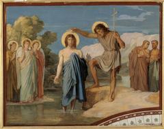 Le baptême du Christ Esquisse pour le décor de la nef de l'église Saint-Germain-des-Prés