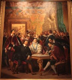 Les quatre Henri ( de Valois, de Navarre, de Guise et de Condé) dans la maison de Crillon, à Avignon