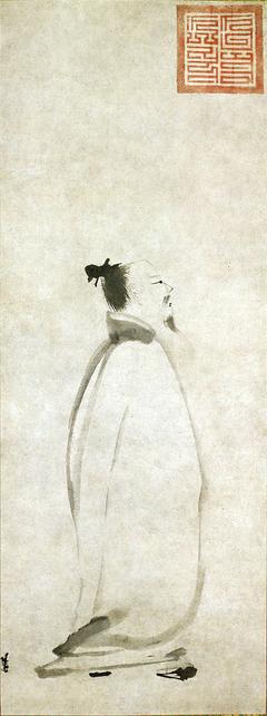 Li Bai saying a poem