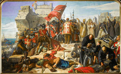 Lifting of the Siege of Malta Besieged by the Ottoman General Mustapha, in September 1565