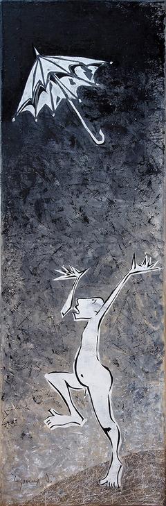 Lost Umbrella. 2015. Canvas, oil. 60x20 cm
