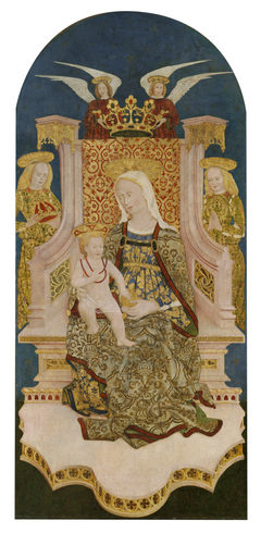 Madonna and Christ Child Enthroned with Angels