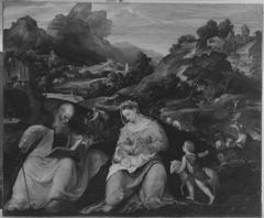 Madonna mit Kind, dem Johannesknaben und dem hl. Antonius