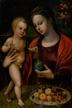 Madonna with Child at the Table