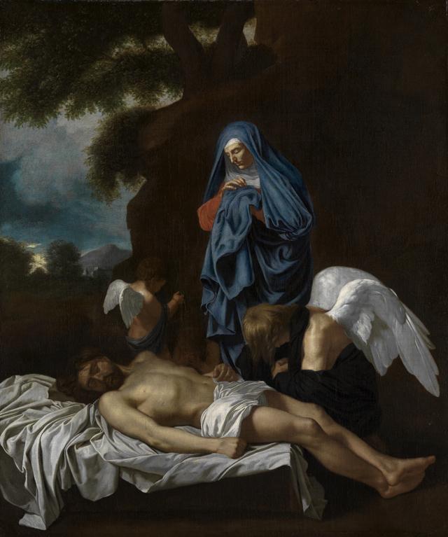 Maria mit dem toten Christus und klagenden Engeln