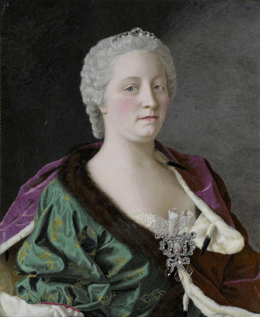 Maria Theresia van Oostenrijk (1717-80), aartshertogin van Oostenrijk, koningin van Hongarije en Bohemen, en Rooms-Duits keizerin