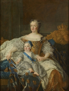 Marie Leszczyńska, reine de France (1703-1768) et le Dauphin Louis (1729-1765)