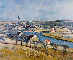 Melun vu depuis Le Mée-sur-Seine