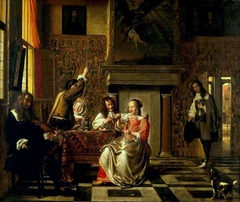 Merry company in an interior