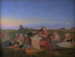 Midsummer's Eve. Sick People Asleep upon the Grave of St. Helena at Tisvilde