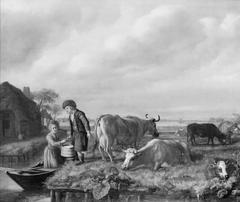 Milking Scene