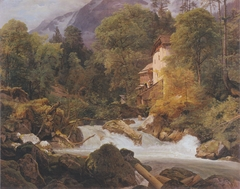 Mill at the outlet of the Königssee