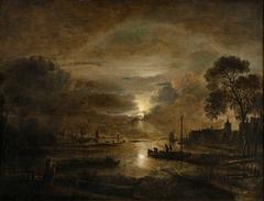 Moonlight at a Dutch River
