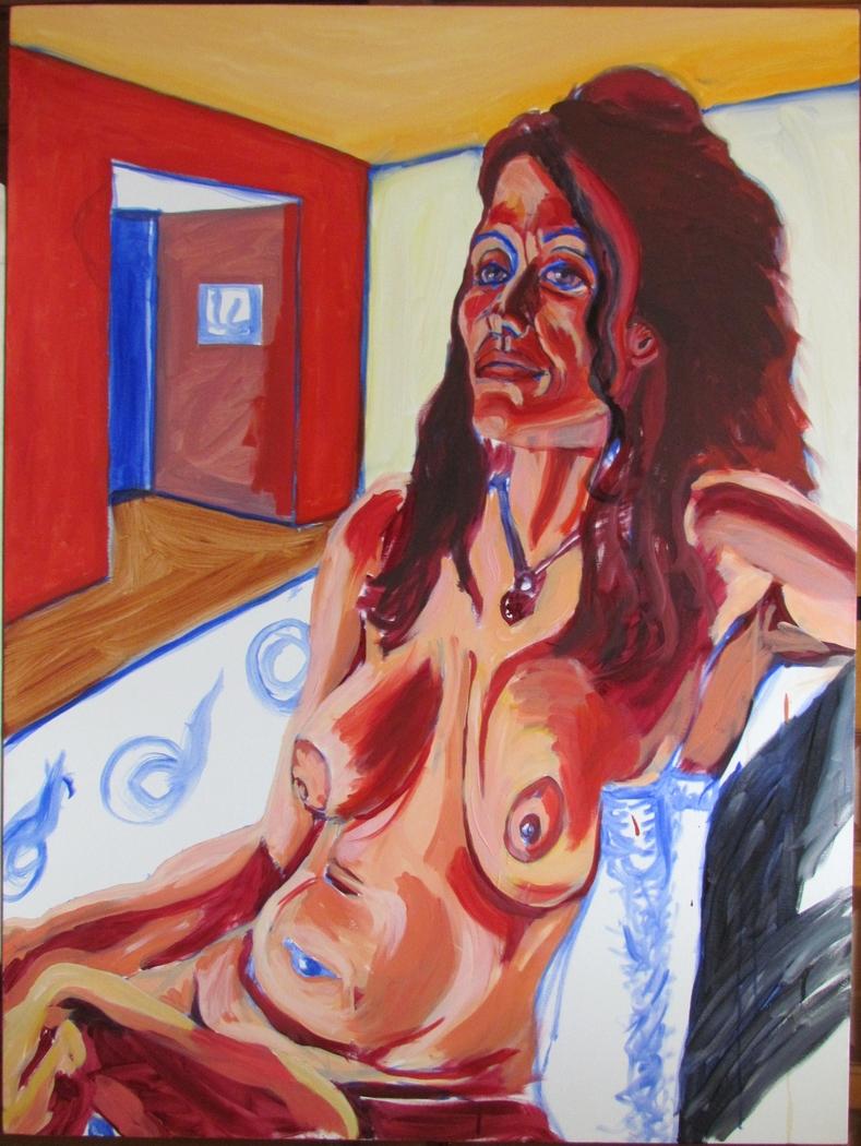 STUDY OF MICHELE 08.2009, 48in X 36in, Oil on Canvas, Steve Hendrickson