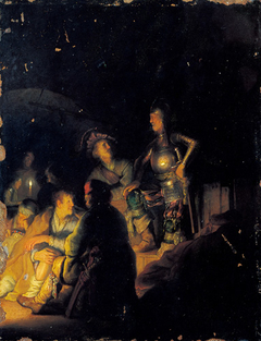 Nocturnal biblical scene