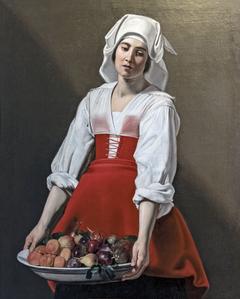 Paysanne à la coupe de fruits